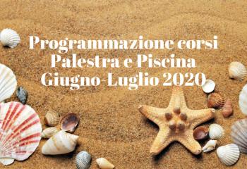Programmazione corsi Giugno-Luglio 2020