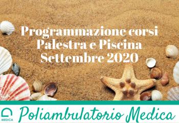 Programmazione corsi Settembre 2020