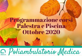Programmazione corsi Ottobre 2020