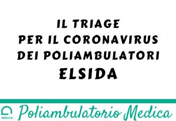 Triage dei Poliambulatori El.Si.Da. per il coronavirus